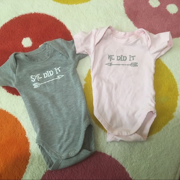 6167b7ac0 One Pieces | Boy Girl Twins Matching Onesies 03 Month | Poshmark